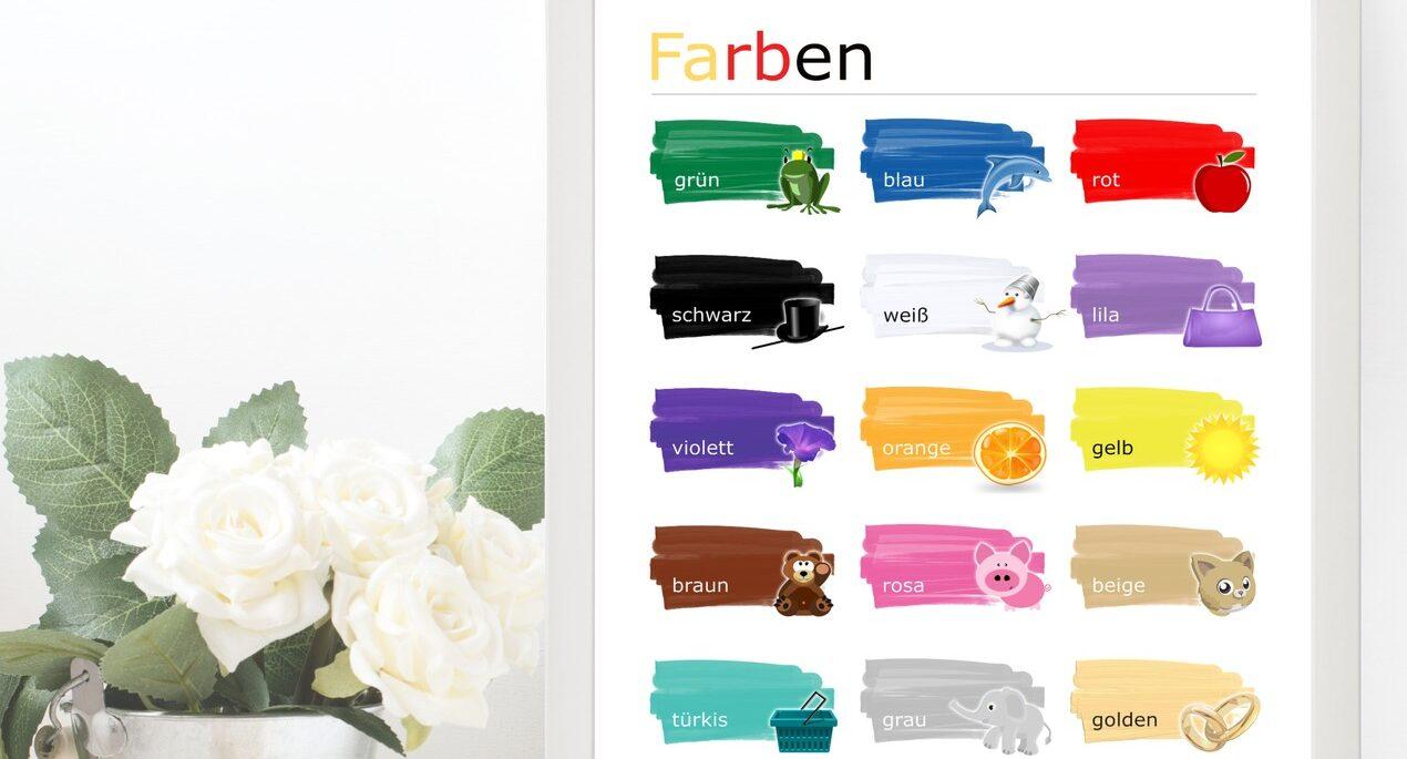 Typowe i nietypowe kolory po niemiecku – Farben auf Deutsch