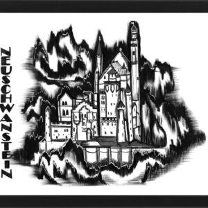 Zamek Neuschwanstein w Bawarii – plakat