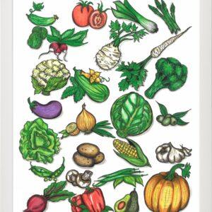 Plakat z warzywami – oryginalna dekoracja Twojej kuchni