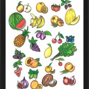 Plakat z owocami – oryginalna dekoracja Twojej kuchni